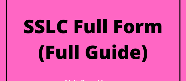SSLC Full Form in Hindi (Full Guide)